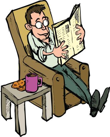 Man Reading A Paper-vektorgrafik och fler bilder på 50-54 år