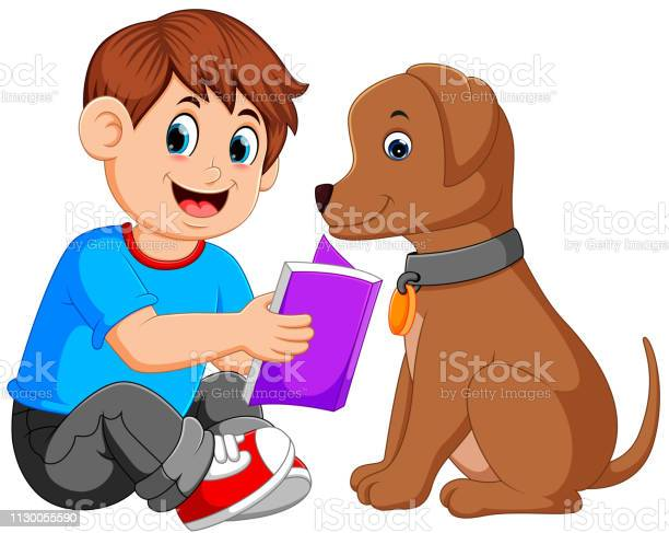 Man reading book with his dog vector id1130055590?b=1&k=6&m=1130055590&s=612x612&h= cxhdemoag0e butpam9ypagoolfmnifzwey7bjxoby=