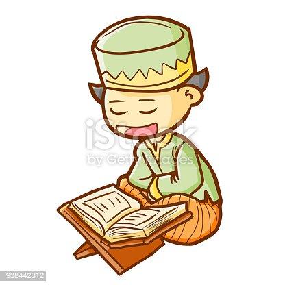 Muslim Boys Read Koran Stock Illustrations, Cliparts And Royalty Free  Muslim Boys Read Koran Vectors