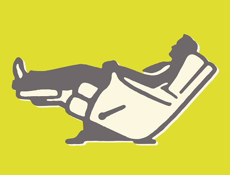 Man Reclined in Recliner