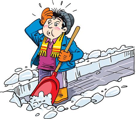 Man remove snow