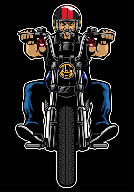 Motorcycle Gangs Silhouettes Illustrations, Royalty-Free ... |Clipart Biker Gang Sign