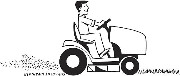 Top 60 Riding Lawn Mower Clip Art Vector Graphics And Illustrations