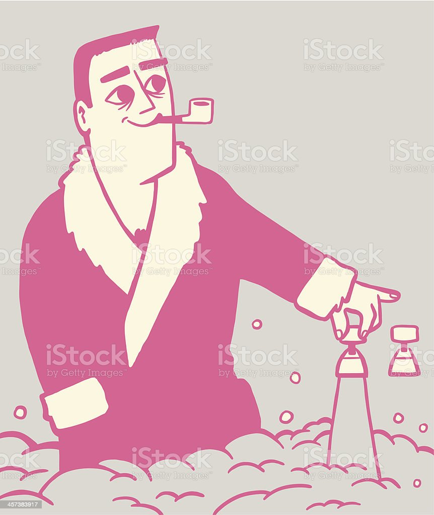 Man Running Bubble Bath royalty-free stock vector art