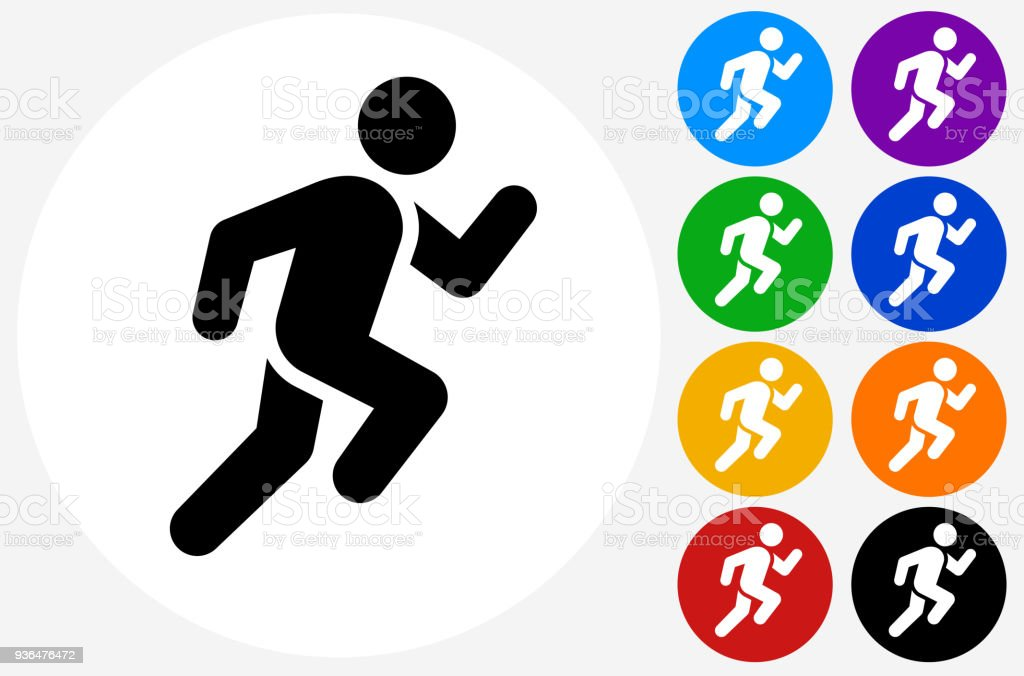 Man Running Icon vector art illustration
