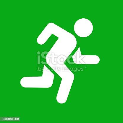 istock Man Running Icon 946881968