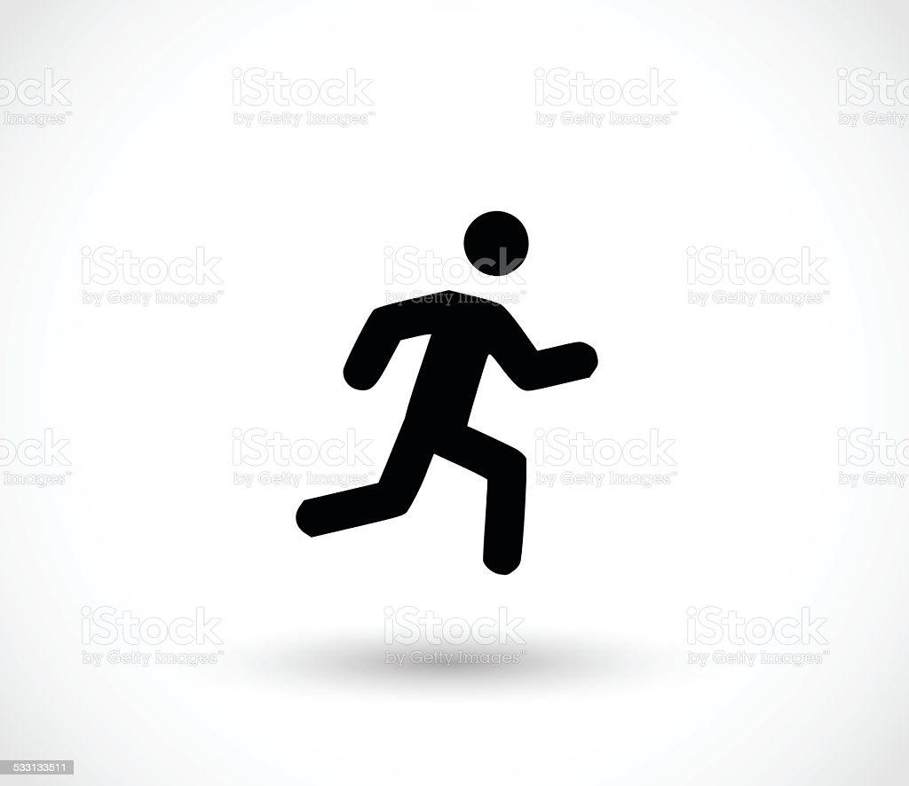 Man running icon vector illustration vector art illustration