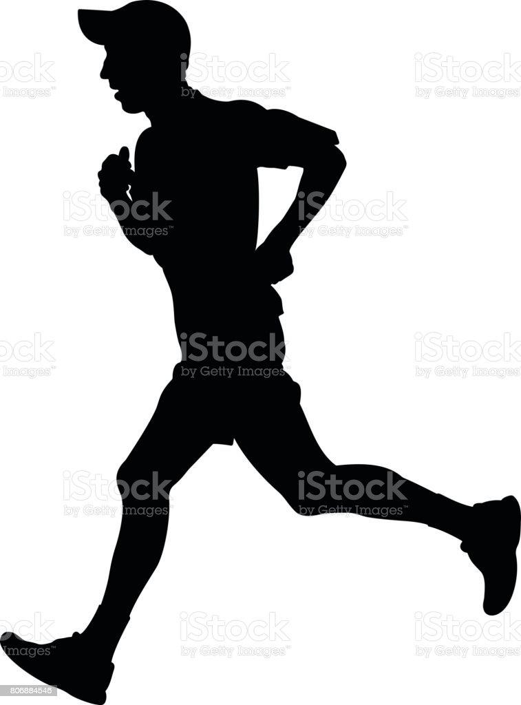 キャップで走っている人 1人のベクターアート素材や画像を多数ご用意