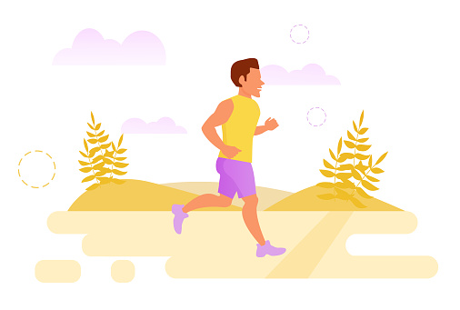 Jogging stock illustrations