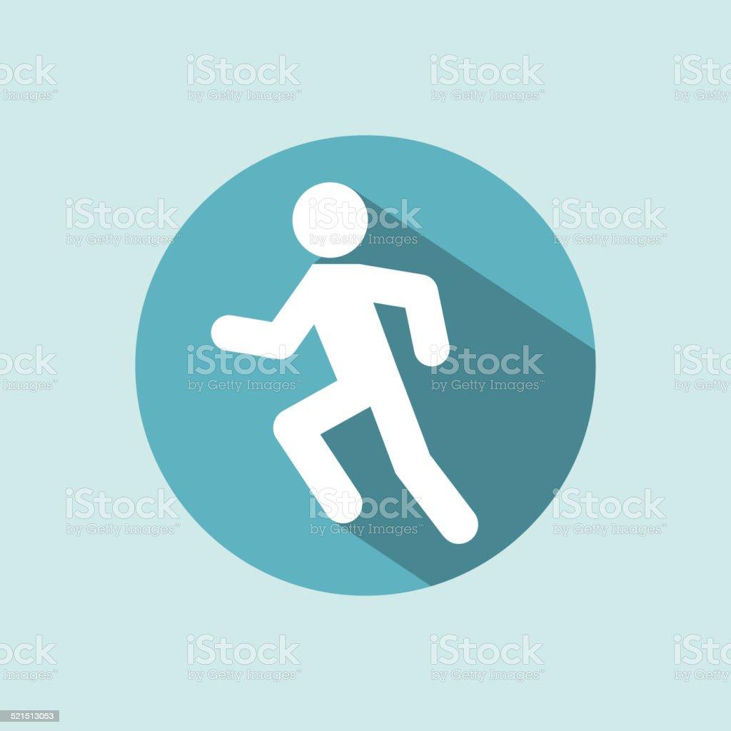 Man running vector art illustration
