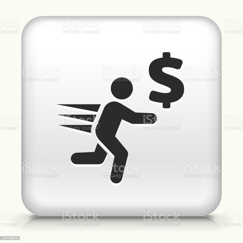 Man Runs after Money. vector art illustration