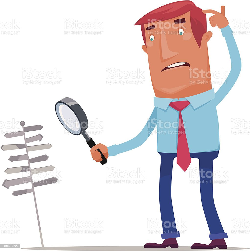 man searching royalty-free man searching stock vector art & more images of advice