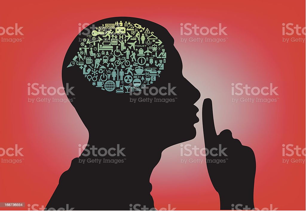 Man shhh royalty-free man shhh stock vector art & more images of activity