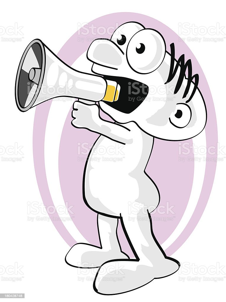 Man shouting your news royalty-free stock vector art
