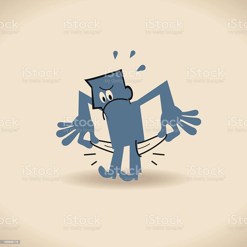 Man showing empty pocket vector art illustration
