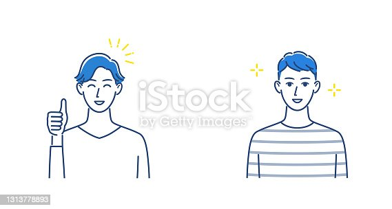 istock man showing good sign and Smiley person 1313778893