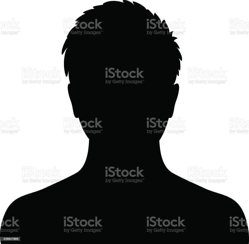 man silhouette profile picture stock vector art amp more