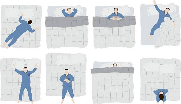 ilustraciones, imágenes clip art, dibujos animados e iconos de stock de hombre durmiendo en la cama - man sleeping