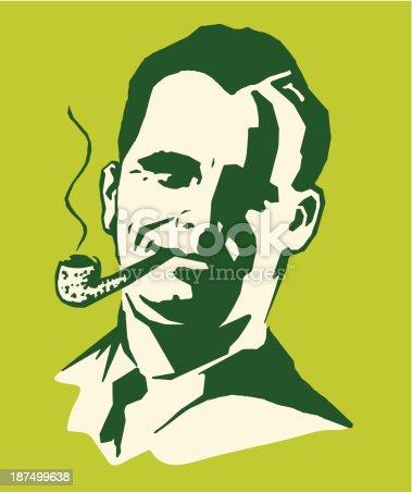 istock Man Smoking a Pipe 187499638