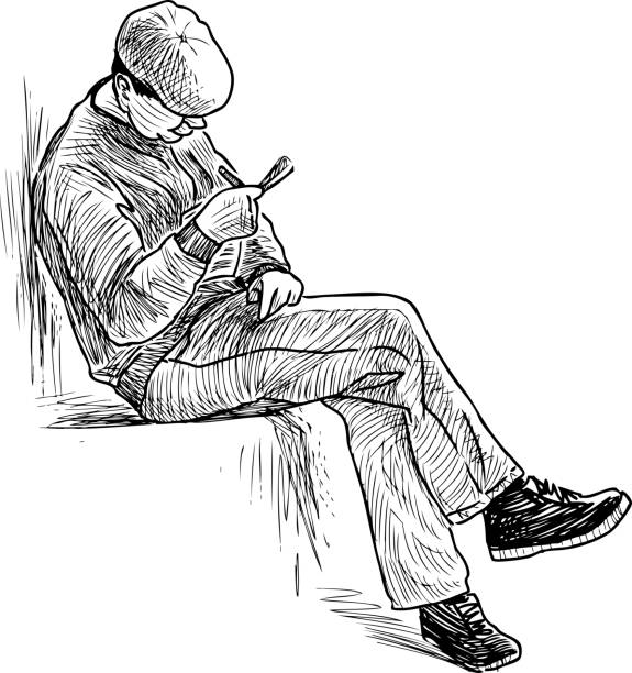 Drawing Of Crossword Puzzle Illustrations, Royalty-Free