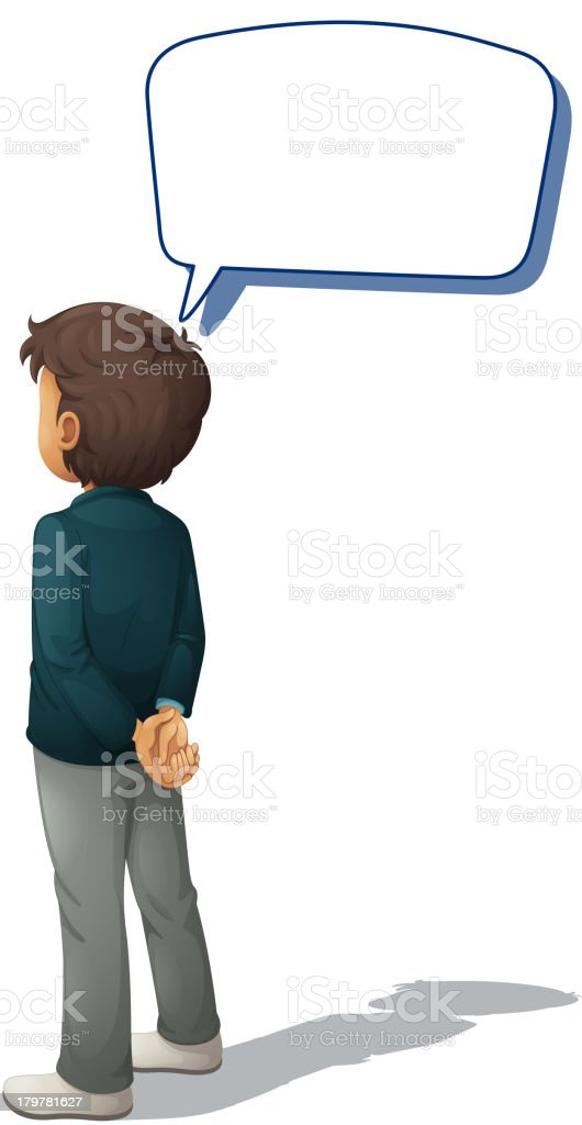 Man standing and speaking royalty-free stock vector art