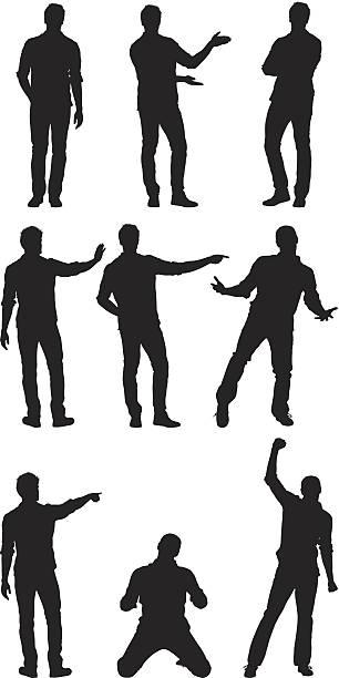 ilustrações de stock, clip art, desenhos animados e ícones de homem de pé em diferentes poses - gesticular