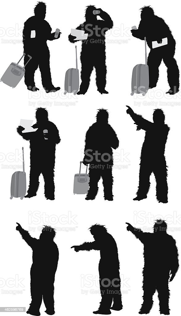 Man standing in gorilla costume royalty-free man standing in gorilla costume stock vector art & more images of adult