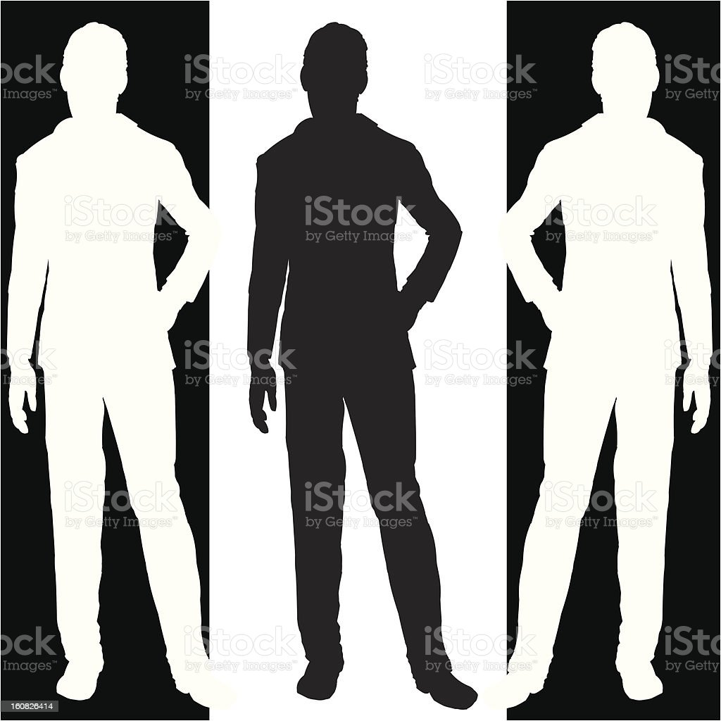 man standing royalty-free man standing stock vector art & more images of adult