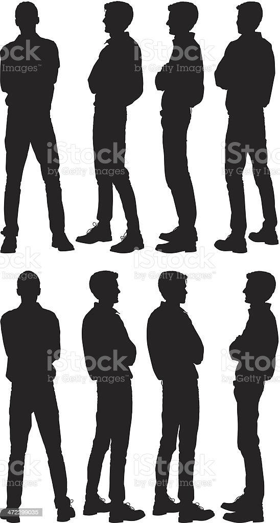 Man Standing With Arms Crossed Stock Vector Art & More ...