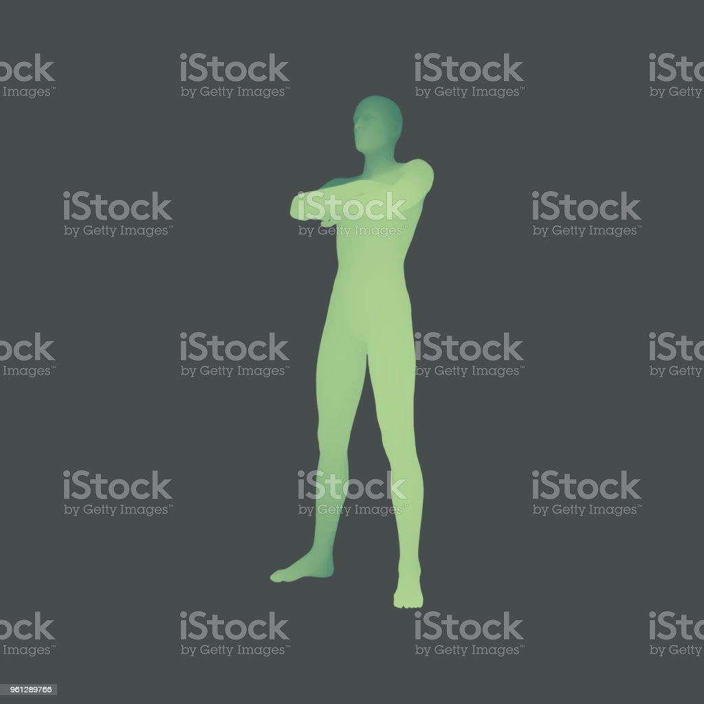 Ilustración de Hombre Está Parado Sobre Sus Pies Hombre Cruzando Sus ...