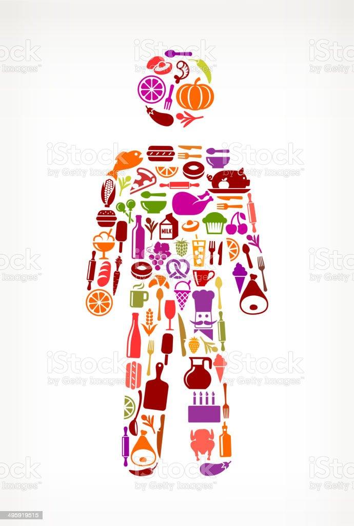 man Stick Figure Food & Drink royalty free vector arts royalty-free stock vector art