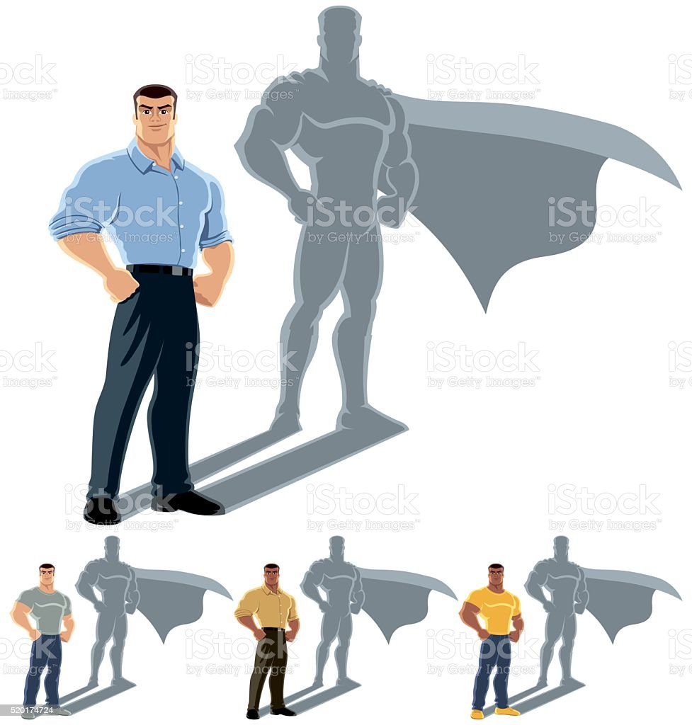 Man Superhero Concept vector art illustration