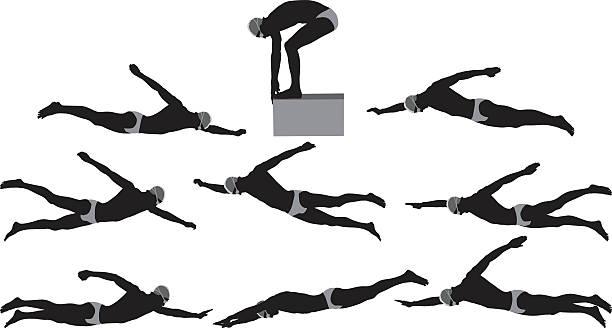 男性のプール - 水泳点のイラスト素材/クリップアート素材/マンガ素材/アイコン素材