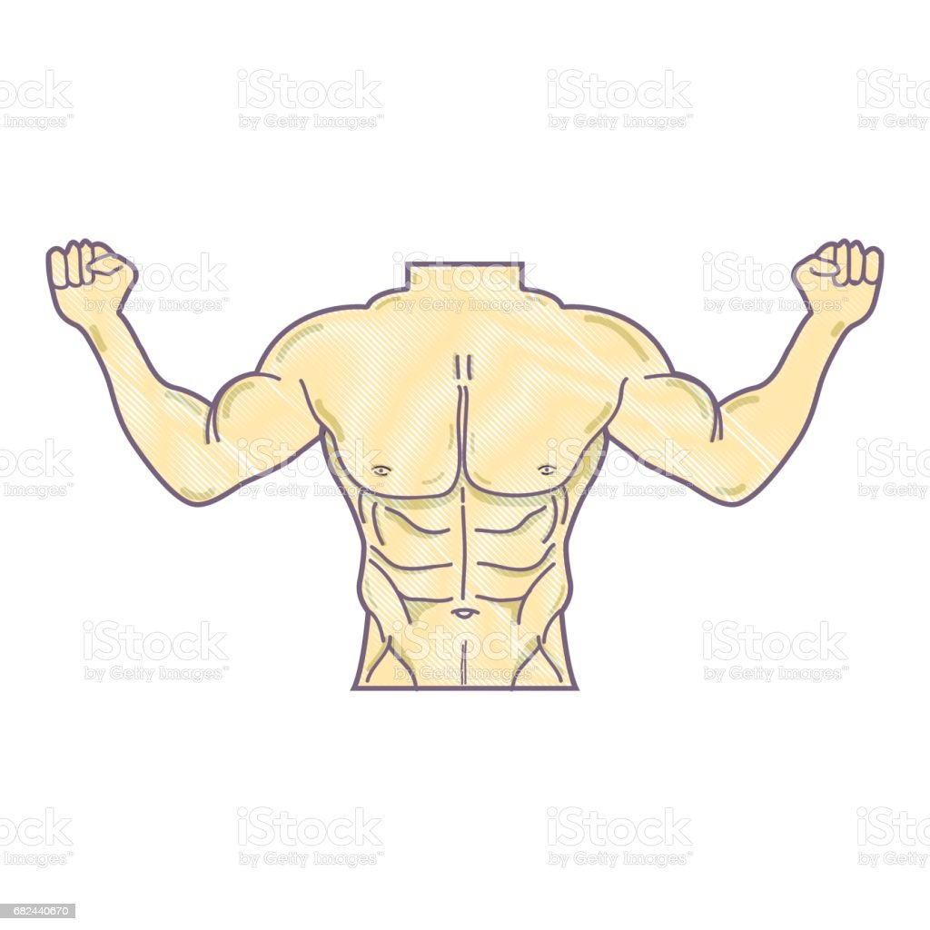 man toned body fitness royalty-free man toned body fitness stock vector art & more images of adult