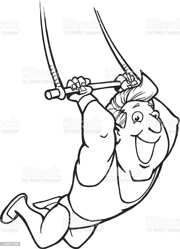 Ilustración de Hombre De Trapecio y más banco de imágenes de 20 a 29 ...