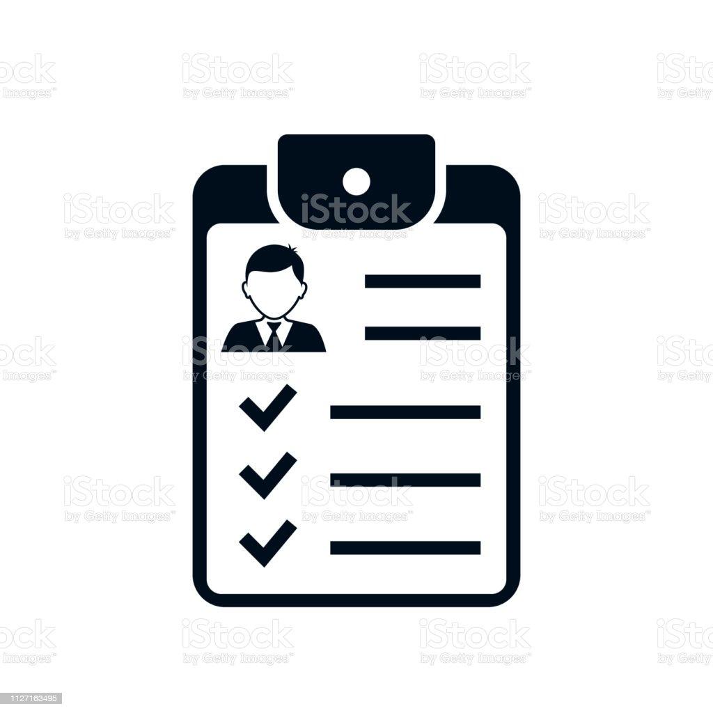 Man User Checklist Icon Vector Clipboard With Man Profile