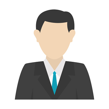 Man user icon avatar in clipart vector