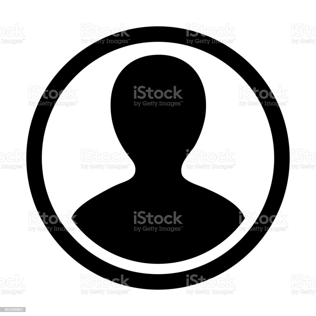 Man User Icon Vector Person Symbol Profile Stroke Circle Avatar Sign