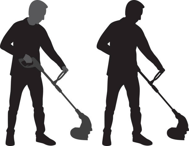 Best Weed Wacker Illustrations Royalty Free Vector
