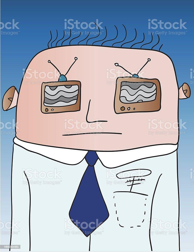 TV man vector art illustration