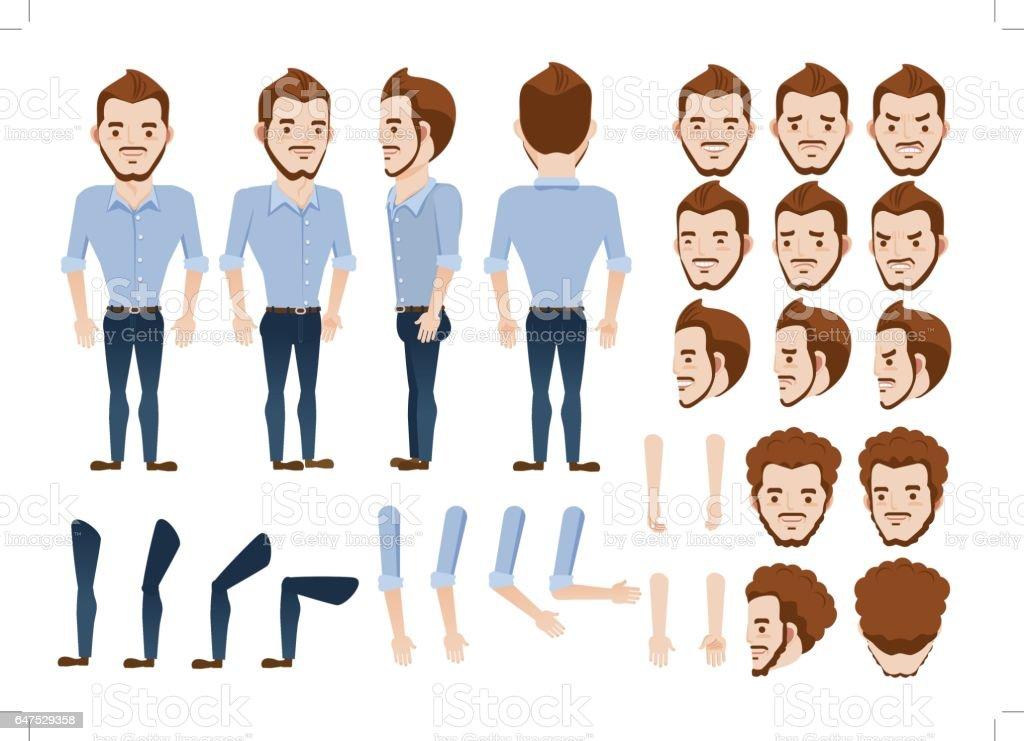 Man Vector vector art illustration