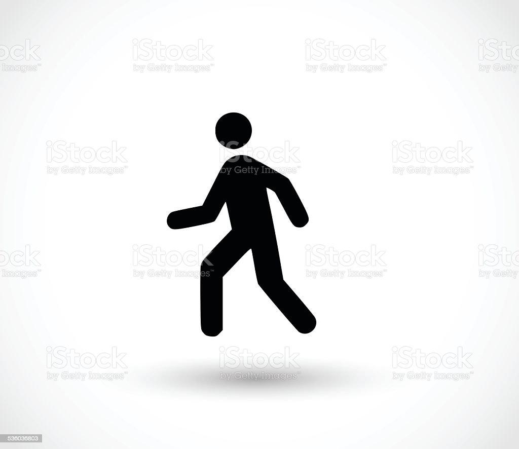Man walk icon vector illustration vector art illustration