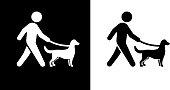 istock Man Walking a Dog Icon 1220371452