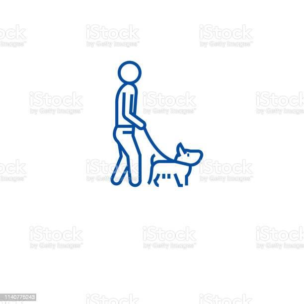 Man walking dog line icon concept man walking dog flat vector symbol vector id1140775243?b=1&k=6&m=1140775243&s=612x612&h=1xebidukeyzfivsgk7ymbgcdtqeqd2p99l 4gmcugny=