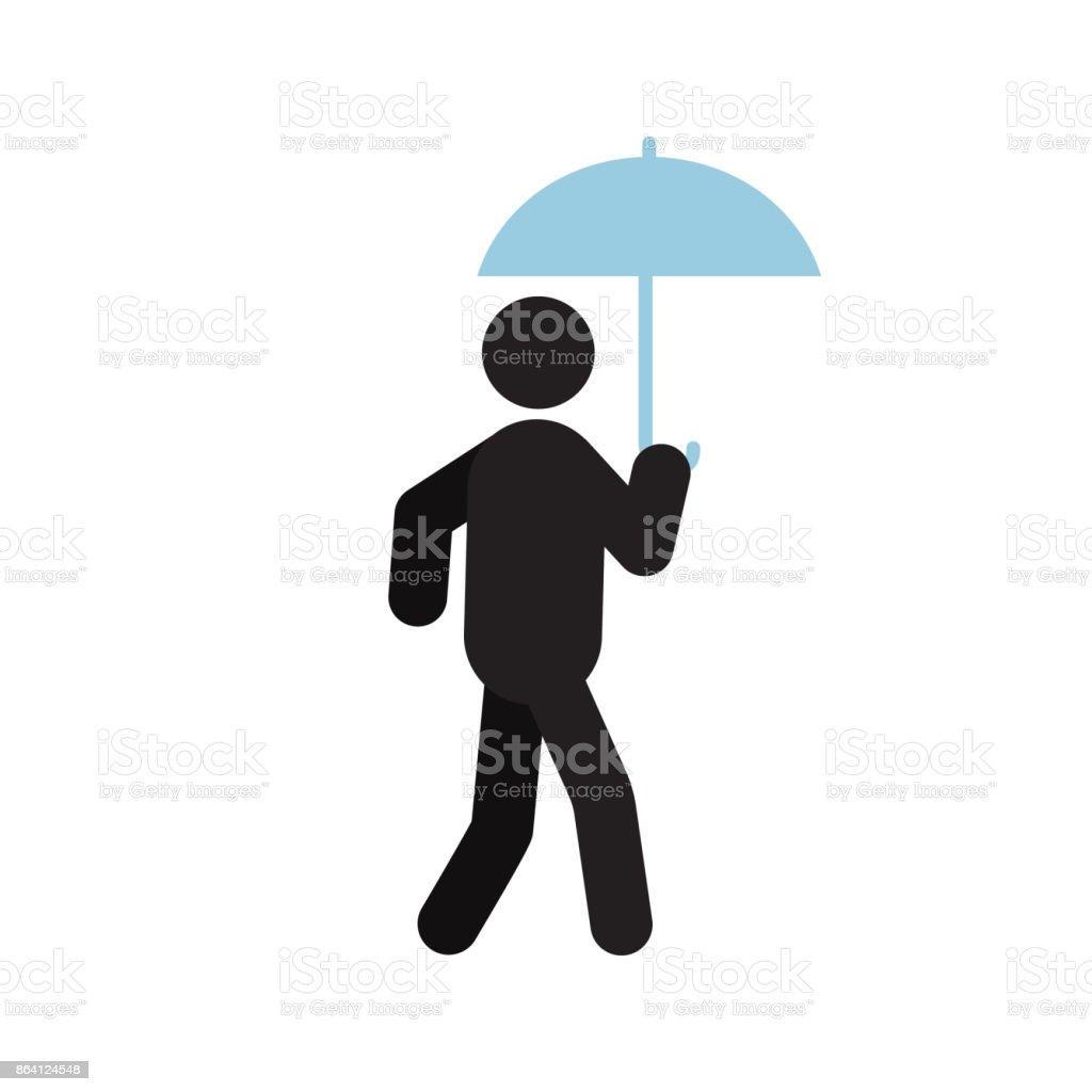 Man walking under umbrella icon royalty-free man walking under umbrella icon stock vector art & more images of adult