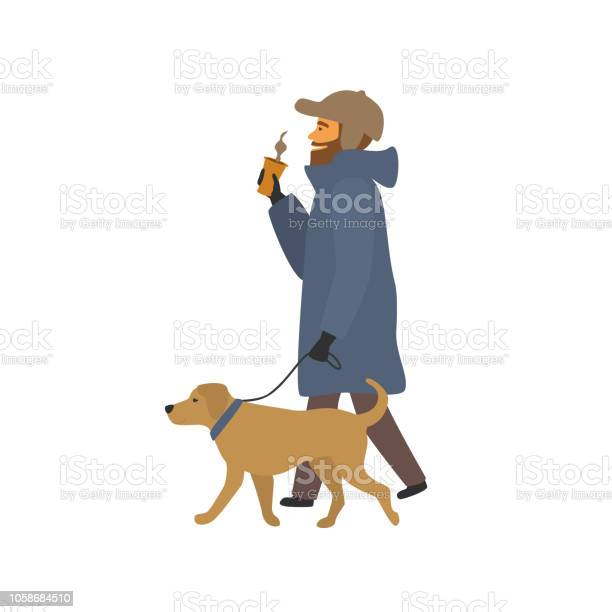 Man walking with dog drinking coffee on the way scene vector id1058684510?b=1&k=6&m=1058684510&s=612x612&h=lqeuq85gvxw n5lxuaevoti2ntt6zbz3zj7pbbztj8a=