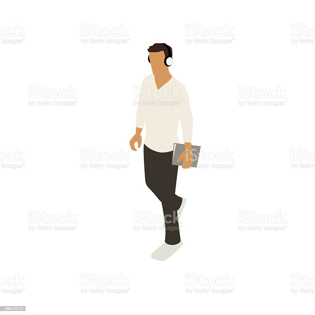 Man walking with notebook illustration royalty-free man walking with notebook illustration stock vector art & more images of 20-29 years