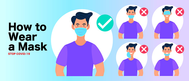 man wear protective mask against infectious diseases and flu. Stop the infection. Health care concept.