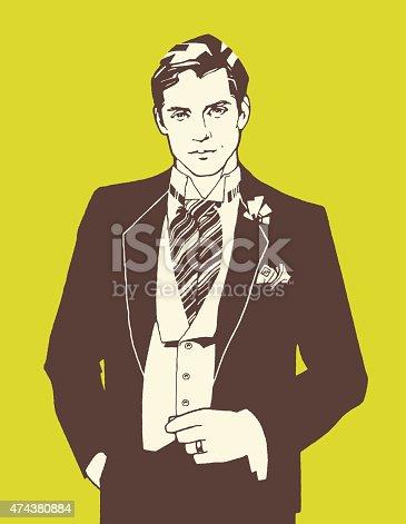 Man Wearing de Ascot brida
