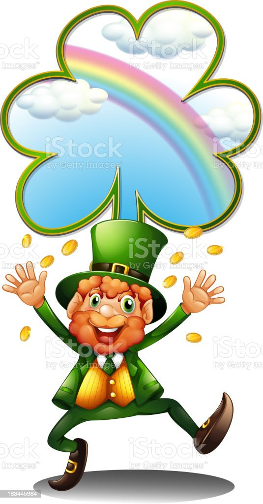 man wearing green with tokens royalty-free stock vector art